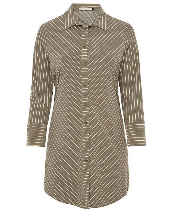 khaki mit Tunika Size Streifen Plus Belloya 4Fq68Tx