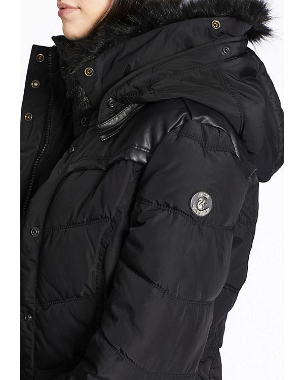 RIB schwarz Jacke WITH II COLLAR WINSEN Khujo FIwqAvq