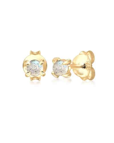 Elli, Ohrringe Ear Jacket Kugeln Trend 925 Sterling Silber, gold ... 46329e6140